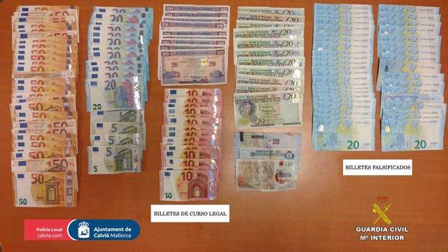 Detenidas cuatro personas en Calvià por un delito de falsificación e introducción de moneda falsa