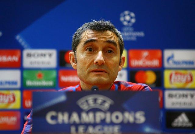 El entrenador del FC Barcelona, Ernesto Valverde