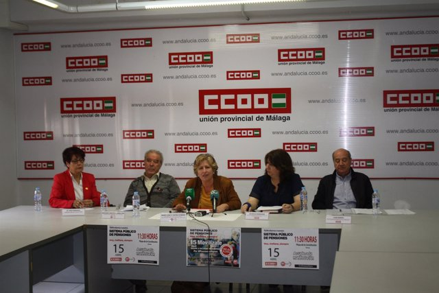 Rueda de prensa CCOO y UGT
