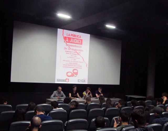 El acto de presentación de la campaña, que se ha organizado en la UAB