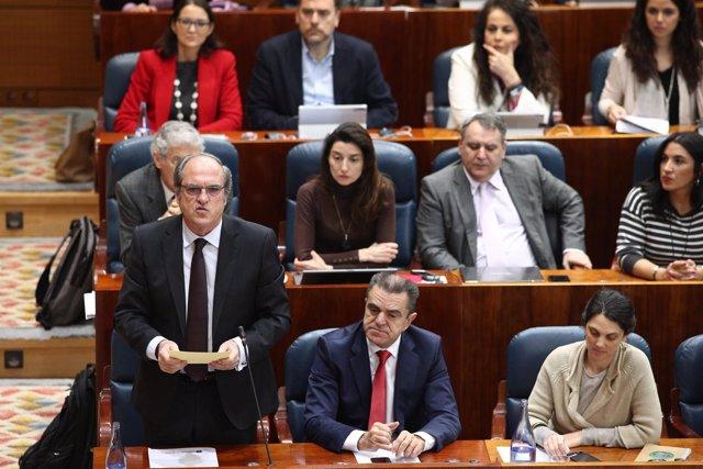 Intervención del portavoz del PSOE en la Asamblea de Madrid, Ángel Gabilondo