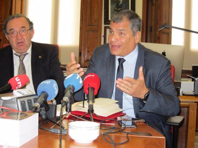 Rafael Correa en Convalecencia UMU con Orihuela