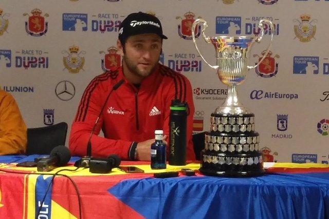 Jon Rahm antes del Open de España de golf