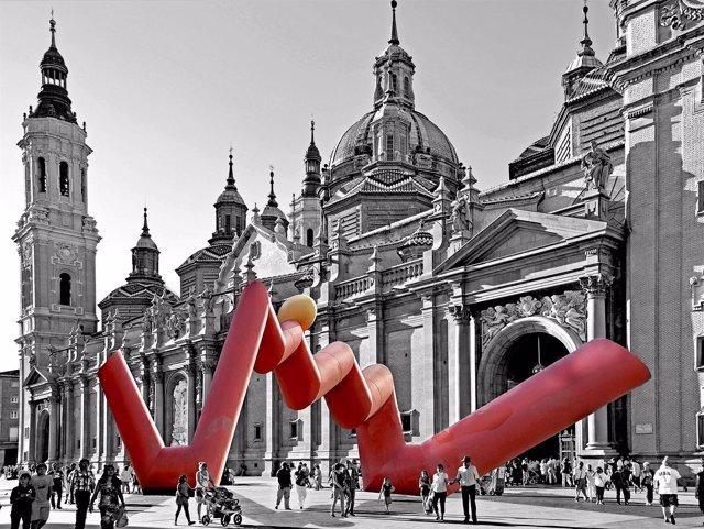 Una de las fotografías de la exposición 'Zaragoza trastocada'