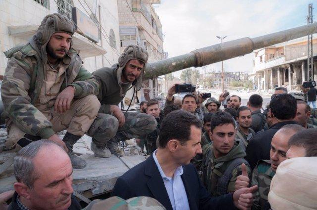 Al Assad en Ghuta Oriental