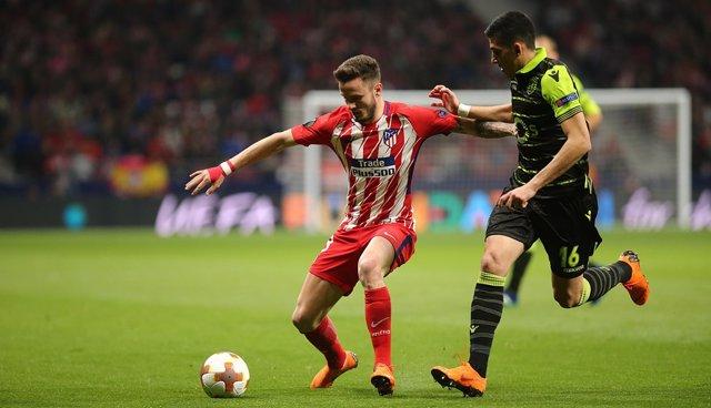 Saúl Ñíguez en el Sporting - Atlético