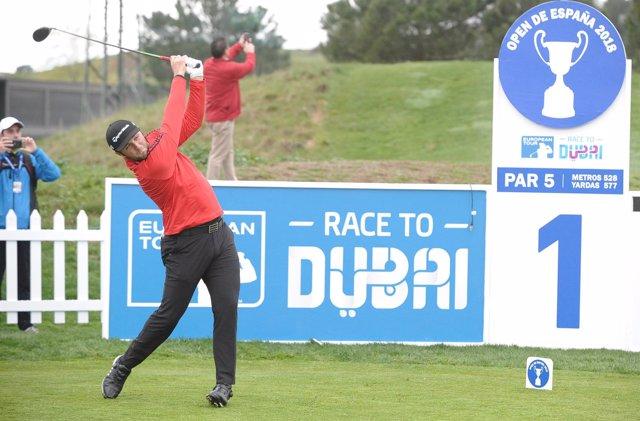 Jon Rahm durante el Pro Am del Open de España
