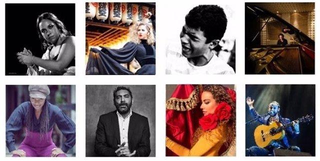 Cartel 'Flamencos y mestizos' de la Fundación SGAE