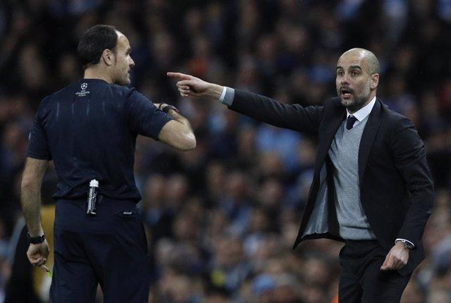 Mateu Lahoz Pep Guardiola Manchester City Mónaco