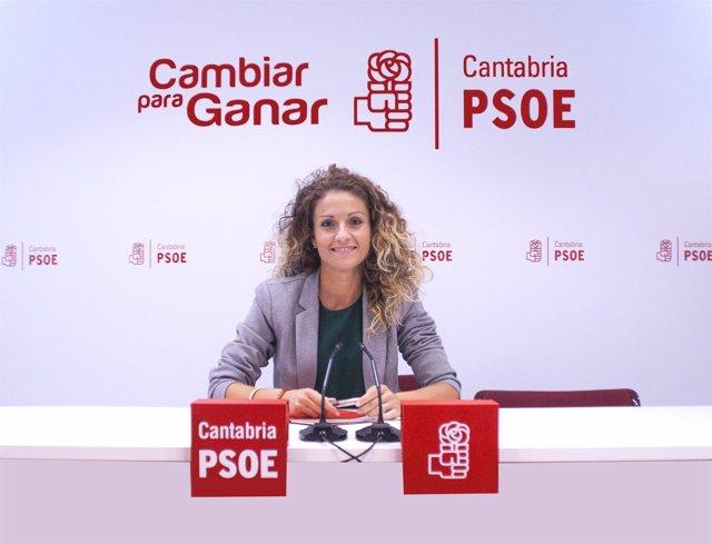Ainoa Quiñones, secretaria de Economía y Comunicación del PSOE de Cantabria