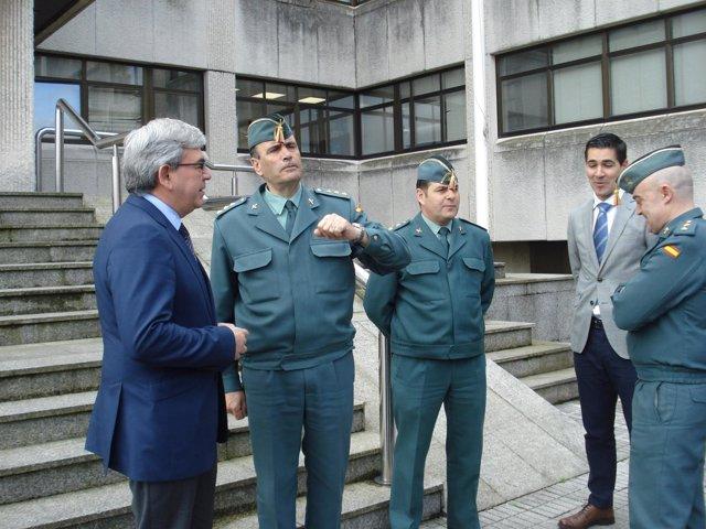Mariano Marín, a la izquierda