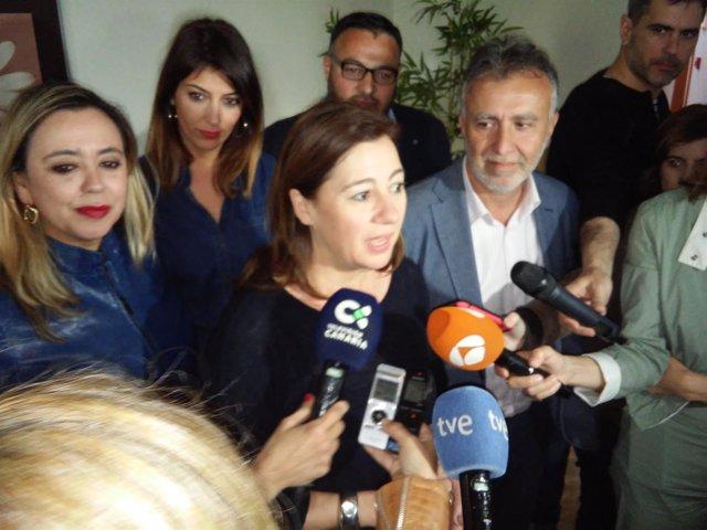 Francina Armengol atiende a los medidos