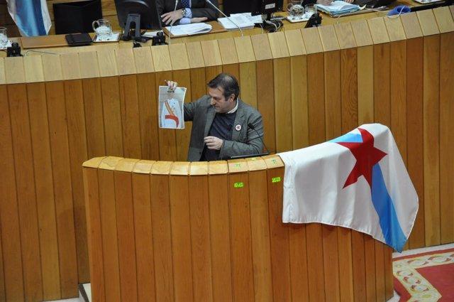 Luís Bará, en el Parlamento