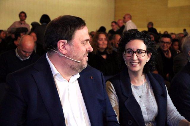 Oriol Junqueras y Marta Rovira, ERC