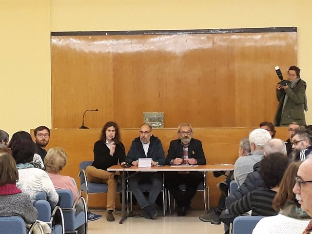 Gonzalo Peña de Cambia Logroño en la Asamblea que ha refrendado su continuidad