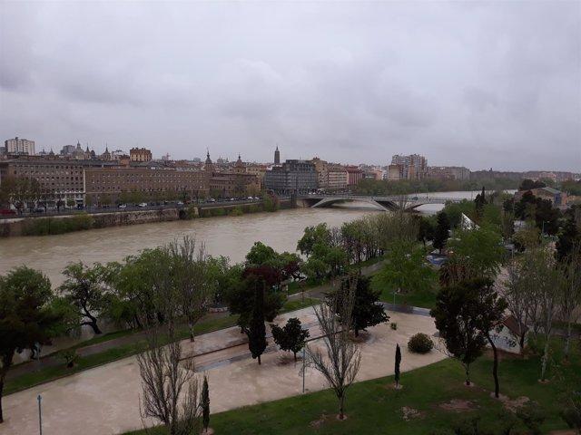 Crecida del río Ebro en Zaragoza