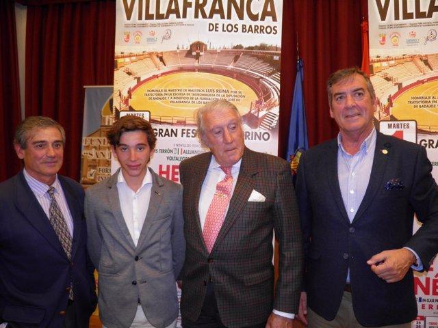 Presentación del cartel de Perera en Villafranca