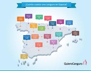 Cuánto cobra una niñera en España, precios medios por comunidades autónomas