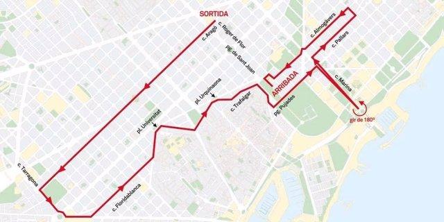 Recorrido de la 'pedaleada' de la Fiesta de la Bicicleta 2018