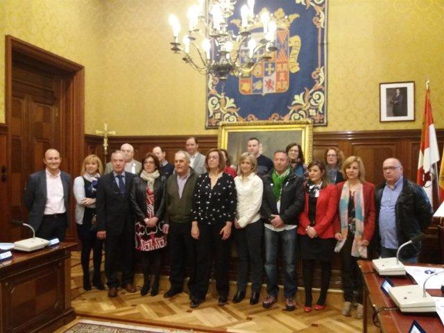 Alcaldes de los 19 ayuntamientos que cuentan con el programa.