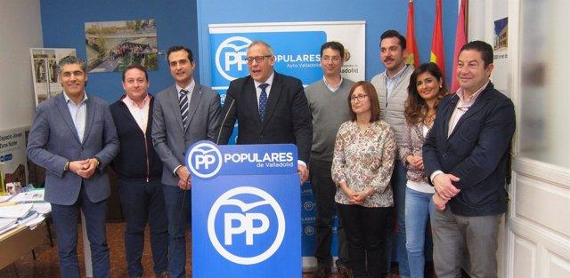 Rueda de prensa de representantes del PP sobre la Mancomunidad. 12-4-2018