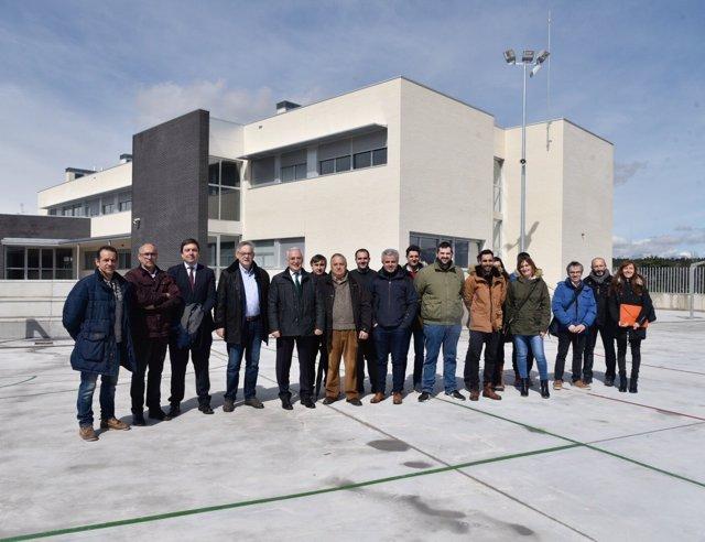 Visita instittucional nuevo colegio de Cenicero