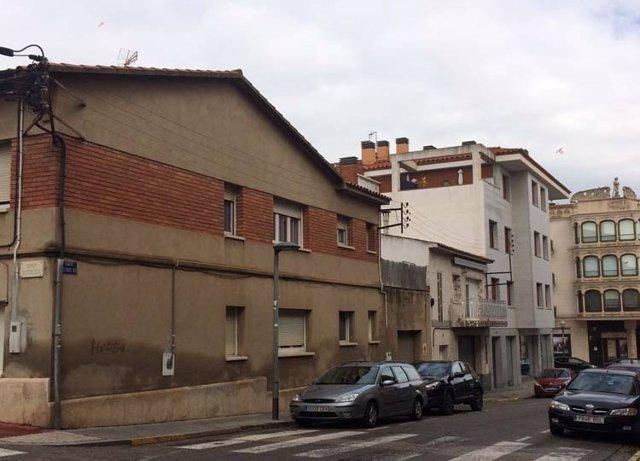 La calle Alfonso XIII de Sant Quirze del Vallès