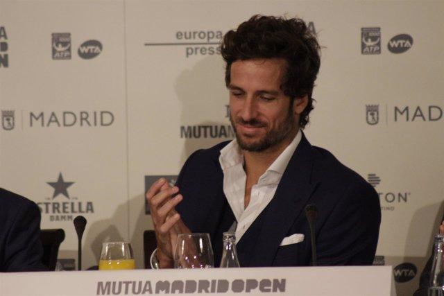 Feliciano López en los desayunos deportivos de Europa Press