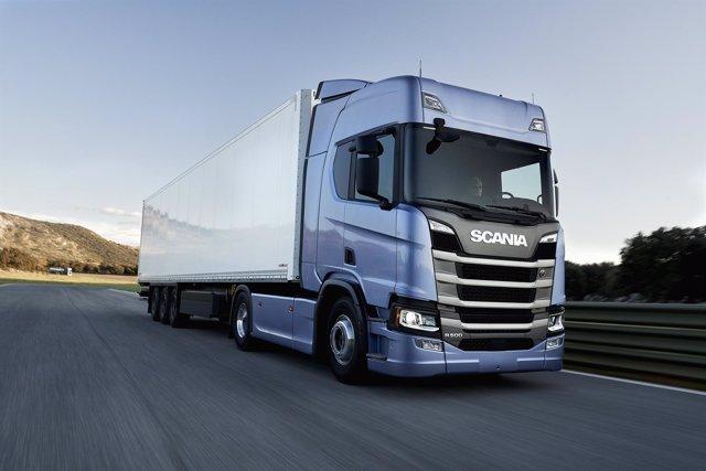 Imagen de archivo de un camión
