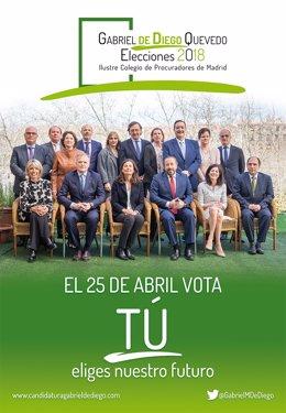 Candidatura de Gabriel de Diego al Colegio de Procuradores de Madrid