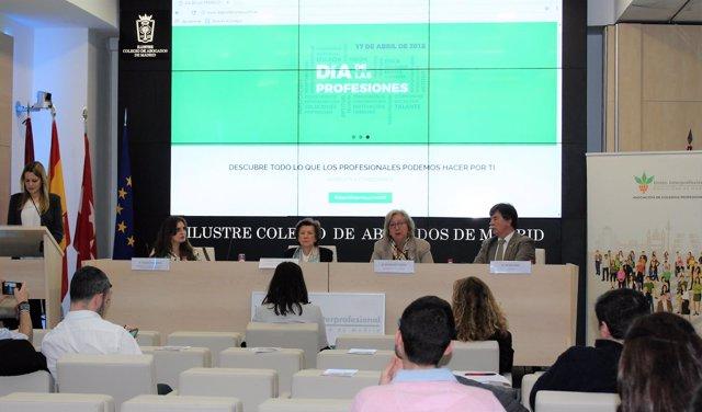 Presentación del informe 'Radiografía de los profesionales colegiados madrileños