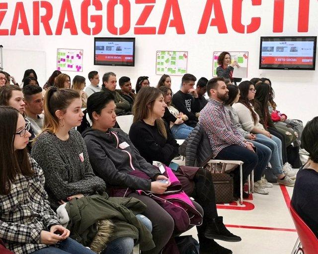Sesión en Zaragoza Activa