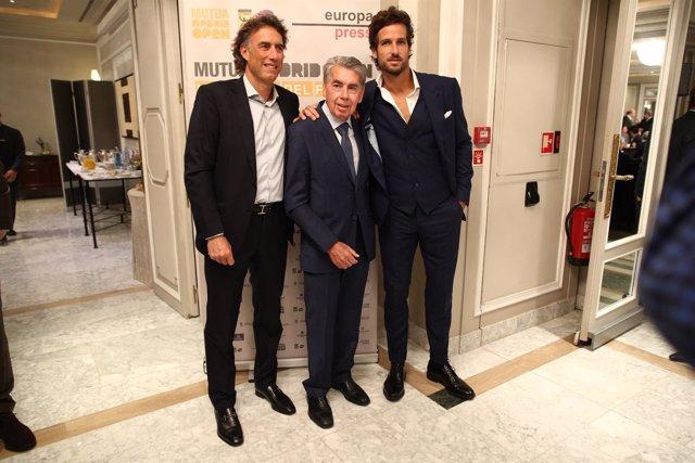 Manolo Santana, Feliciano López y Tsobanian en los Desayunos de Europa Press