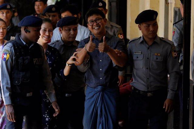 Uno De Los Periodistas Detenidos De Reuters, Wa Lone.
