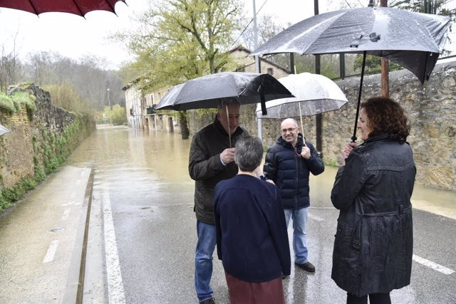 Visita de Asiron, Abaurrea y Gómez a la zona