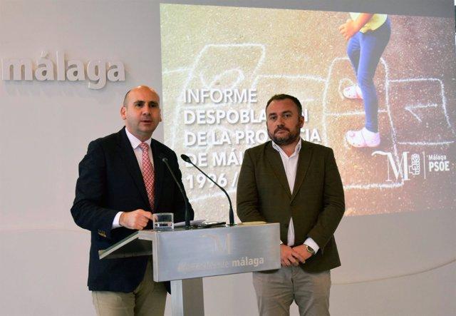 Francisco Conejo y Luis Guerrero en rueda de prensa sobre medidas contra despobl