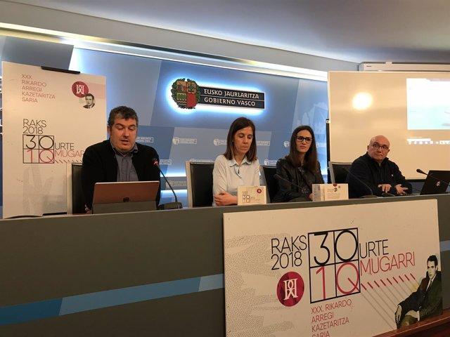 Presentación premios Rikardo Arregi