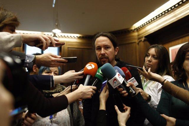 Declaraciones de Pablo Iglesias en el Congreso