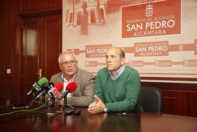 Piña y Osorio concejales de OSP Marbella San Pedro independientes