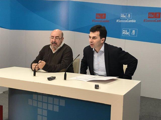 Roberto García y Gonzalo Caballero en la rueda de prensa