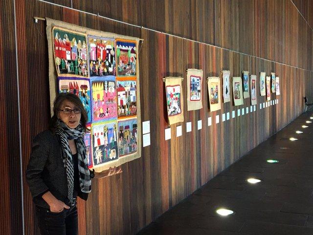 Roberta Bacic durante la inauguración de la exposición