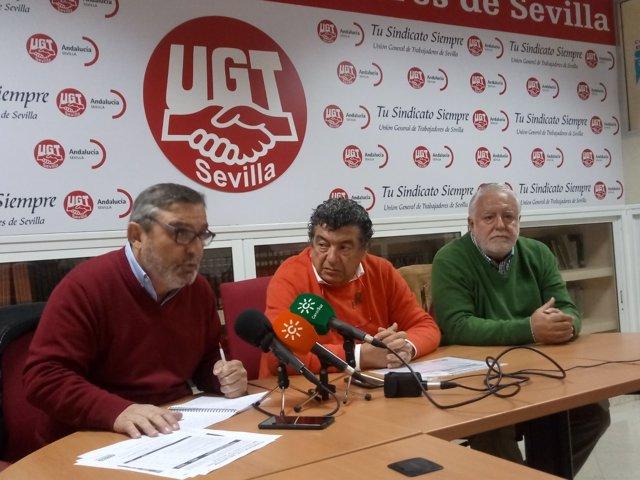 Presentación de las movilizaciones del 15 de abril, con UGT, CCOO y FOAM