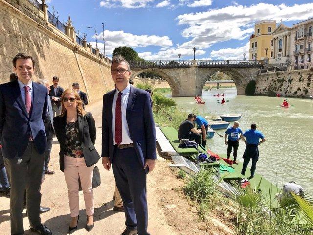 El alcalde en margen río Segura, actividades escolares
