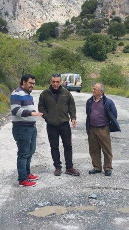 IU Guzmán Ahumada visita la via carretera valle de abdalajis y caminito del rey