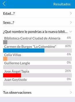 Ensayo en la app Almería Participa