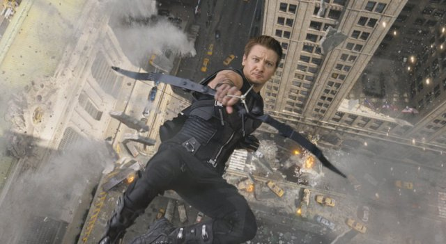 Ojo de Halcón (Jeremy-Renner) en Los Vengadores
