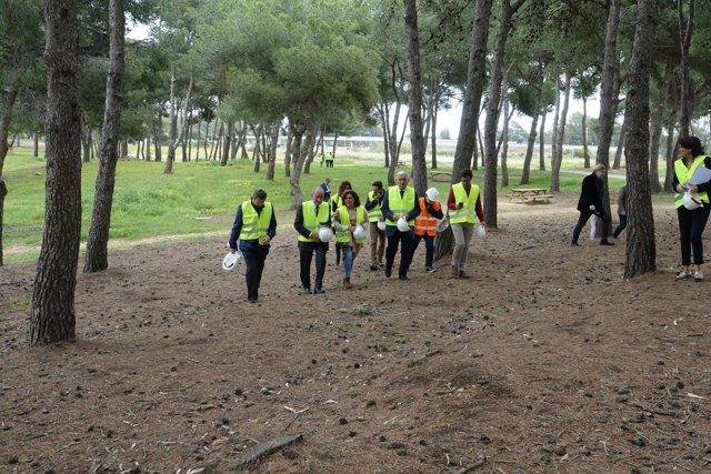 Visita las obras al Campamento Benítez