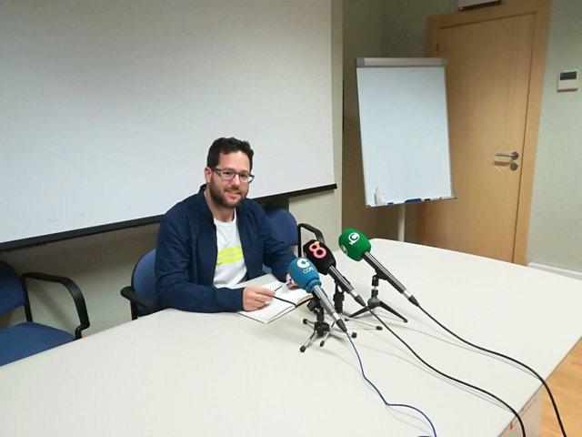 El coordinador provincial de Podemos, José Ignacio García