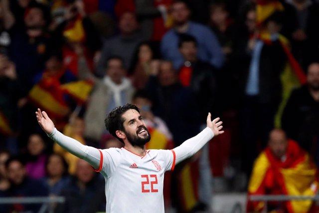 Isco, con la selección española