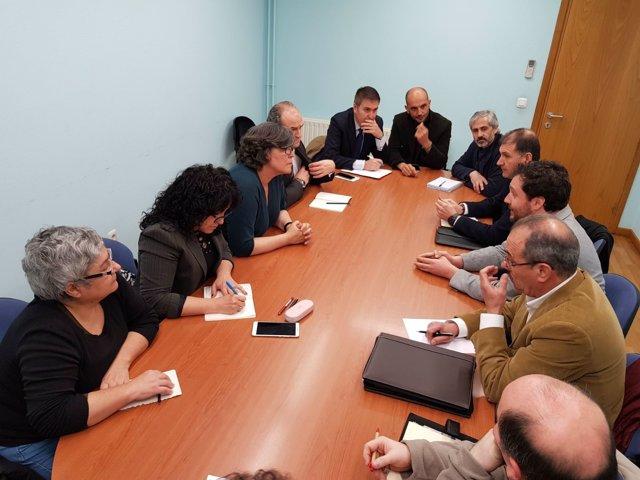 Reunión entre el Ayuntamiento de O Porriño y Adif